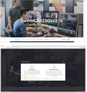 Инструкция по DaVinci Resolve 16: установка минимальных системных требований: Шаг 7 - скачатьбесплатную версию программы DaVinci Resolve 16